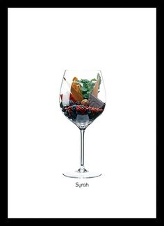 Quadro Poster Vinhos e Sabores Semillion - Decor10