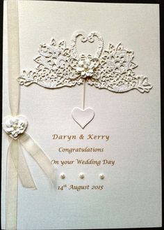 Tattered Lace Swans Wedding Card