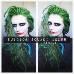 SUICIDE SQUAD: JOKER MAKEUP & HAIR (female)