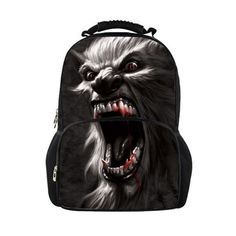 Fashion Men Travel Canvas Backpack,Famous Brands Wolf Printing Backpacks Animal Rucksack Daypack Large Mochilas Boys School Bag