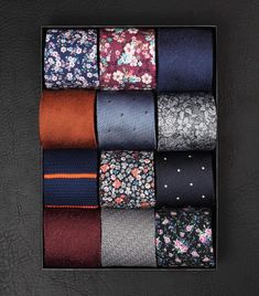 Florals, stripes, knits and dots - are you tied up for autumn? www.Grandfrank.com