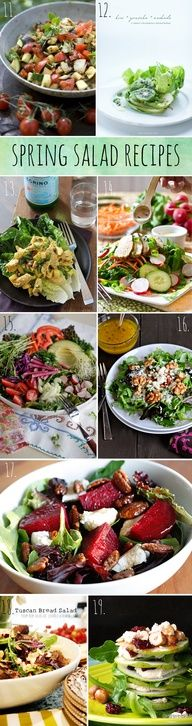 Yummy! These look so DELISH!! Spring Salad Recipes