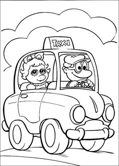 Muppets Fargelegging. Tegninger 40