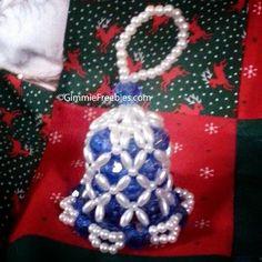 bead bell ornament