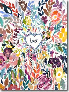 Colorful Love Nursery Art by Starla Michelle Halfmann - at the Little Crown Interiors Boutique Art And Illustration, Arte Inspo, Kunst Inspo, Oeuvre D'art, Painting Inspiration, Painting & Drawing, Watercolor Art, Art Projects, Art Photography
