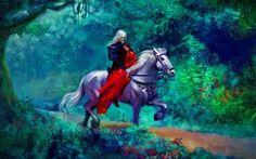 O cavaleiros e a dama.