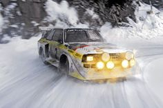 """Climbing behind the wheel of an Audi Sport Quattro is one of those things I just have to do, preferably.Audi Sport Quattro """"Group B"""" class. Audi Quattro, Sport Quattro, Audi Sport, Sport Cars, Race Cars, Audi A, Audi 2017, Range Rover Classic, Rally Car"""