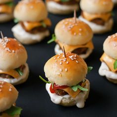 The ultimate party food - army of mini #burgers!