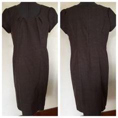"AGB Brown Dress AGB Dress.  Short sleeves.  Wear as is or dress it up with a belt.  Brown cotton/polyester/ spandex blend material (has some stretch).  Shoulder width 15-1/2"".  Waist  36"".  Length 37"". (Shoulder to hem).   Excellent  condition. AGB Dresses"