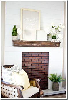 fireless fireplace..I just want a mantel people!