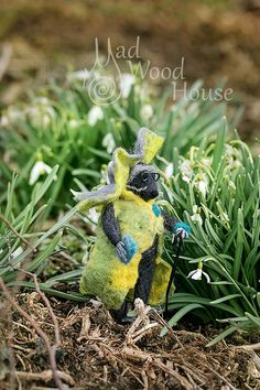 Felted Mouse Art Doll Needle Felting Animal Wool Sculpture Miniature Doll Eco-friendly mouse figurine Funny Mice figurine