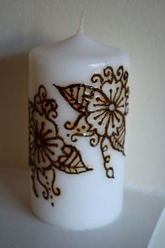 Large Henna Candle by JensHennaArt on Etsy, £10.50