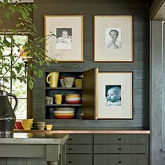 Budget Decorating Ideas: love this for between the wall studs!..wonder if I could do this in dinning room for all my bar stuff. hum.