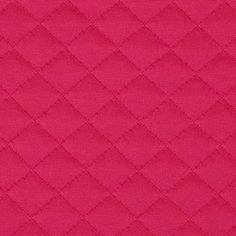 Sweden Quilt Knit Solid Hot Pink from @fabricdotcom  This quilted texture double knit fabric has a soft hand, full bodied drape, and 15% four way stretch. It has a quilted face and a smooth back. This knit is perfect for creating skirts, dresses, form fitting apparel, T-shirts, jackets, tops and more!