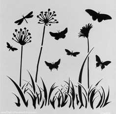 Stencil TCW Mini Butterfly Meadow 6×6 Inches