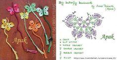 Farfalle crochet con schemi / Crochet butterflies, free patterns