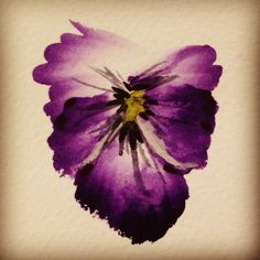 20 second watercolour pansy: for memaw