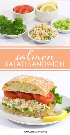 Satisfying Salmon Salad Sandwich Recipe Sweet, tangy, and delectable. Try this salmon sandwich recipe for quick and easy bite that the whole family will enjoy. Make it for lunch or dinner. Salmon Salad Sandwich, Canned Salmon Salad, Salat Sandwich, Canned Salmon Recipes, Salmon Salad Recipes, Fish Recipes, Seafood Recipes, Cooking Recipes, Healthy Recipes