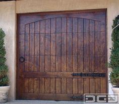 Rustic garage door for our little single car garage.