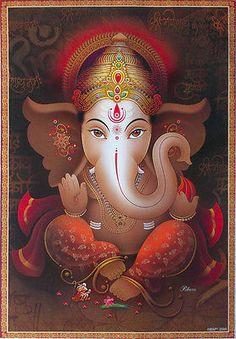 Lord Ganesha Ganesh - Artistic Poster (Big Size: 20x30 Inch)