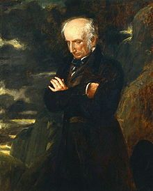 """William Wordsworth, 1770-1850. (Br.) poet. """"Tintern Abbey,"""" Ode; Intimations of Immortality, """"The Prelude."""