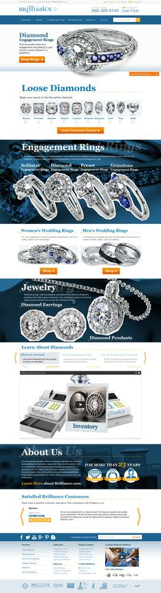 Brilliance is beautifully designed Diamond, rings and Jewelry website with inventory management, paypal integration, shipping, social media integration, Newsletter etc. as its features.