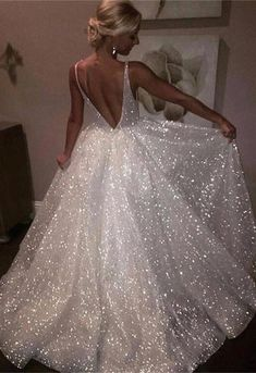 Sequins Backless A-Line Prom Dress 2018 From 27dress.com