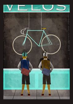 One Day... by Mark Fairhurst MAKETRAX.net - Bicycle Art