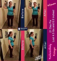 Hi finished the 21 Day Fix! I lost four and a half pounds, and six and a half inches overall! Best of all, I have gotten stronger! Today I am starting the 21 Day Fix Extreme. I got through 25 minutes of it before Little Miss woke up wanting to eat. I won't lie. I kinda needed the break! My lungs we're burning, and I can tell already that I will be sore! So I'm having the Beachbody Recover drink to help minimize the soreness!
