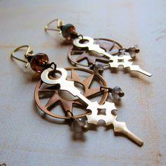 The TimeKeeper's Daughter Steampunk Earrings by Sihaya Designs Jewelry