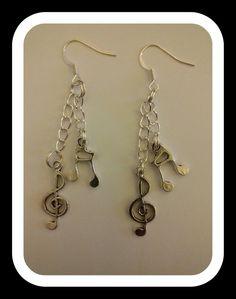 orecchini con chiave di violino e croma, by Roba Da Donne Accessori, 4,00 € su misshobby.com
