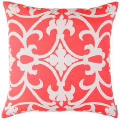 coral pillows | Lili Alessandra Olivia Linen White & Coral Decorative Pillow
