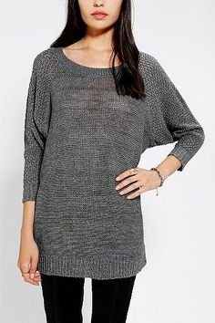 39fa49713a3 Sparkle  amp  Fade Open-Stitch Tunic Sweater Formal Looks