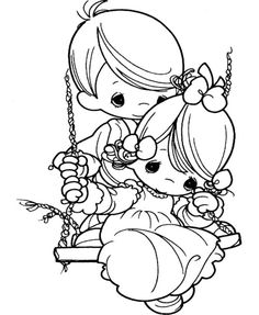 Precious Moments Always With Coloring Pages