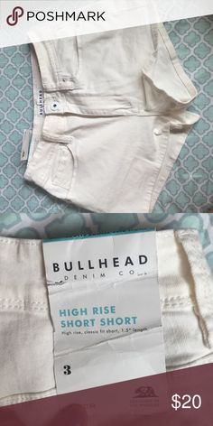 Pacsun high-waisted shorts Never worn, still has tags. Size 3 but listed as 2 because there's no 3 option. PacSun Shorts