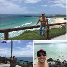Snapper Rocks: divisa entre os estados australianos de Queensland e New South Wales. Bandeira australiana marcando os limites #queensland #newsouthwales #qld #nsw #sea #mar #pacific #pacífico #snapperrocks #pointdanger by demetriusp