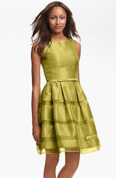 Taylor Dresses Tonal Stripe Fit & Flare Dress #Nordstrom #Wedding #Bridesmaid