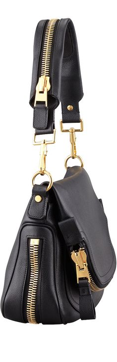 Tom Ford Jennifer Medium Leather Shoulder Bag | The House of Beccaria