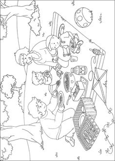 Caillou Coloring pages- Many different ones to choose from.  Would be an easy birthday activity