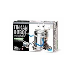 Create your very own walking robot with Tin Can Robot! A great project for any family or science enthusiast, this kit includes instructions and the parts to make your creation. Requires two AAA batteries (not included). Recommended for ages Tin Can Robot Robot Kits, Diy Robot, Science Kits, Science Projects, Science Store, Science Museum, Science Ideas, Tin Can Robots, Moving Eyes