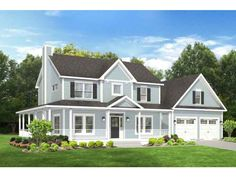 Farmhouse House Plan with 2102 Square Feet and 3 Bedrooms from Dream Home Source | House Plan Code DHSW076668