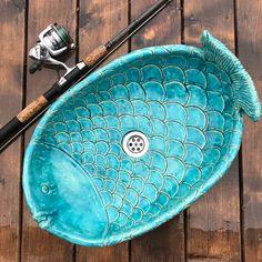 Waschbecken & Badewannen - große Fische waschbecken - ein Designerstück von dekornia bei DaWanda