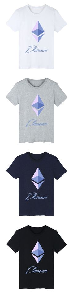 Ethereum T-Shirt for Men Black/White/ Gray/ Deep Blue Tees 4 Colors Cool Top XXS-4XL Over Size TSHIRT Casual Drop Shipping