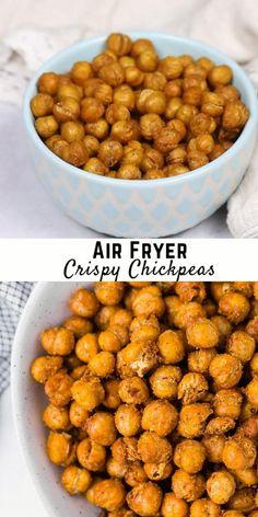 Air Fryer Recipes Vegetarian, Air Fryer Oven Recipes, Air Frier Recipes, Air Fryer Dinner Recipes, Nut Recipes, Whole Food Recipes, Snack Recipes, Cooking Recipes, Appetizer Recipes