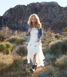 dresses+with+cowboy+boots | Miranda Lambert dresses up cowboy boots in Redbook. ... | Country Boo ...