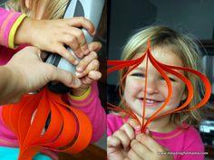 Day #276 - Paper Pumpkin Craft Tutorial - Meaningfulmama.com
