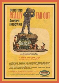 comic book ad for Aurora's Lost in Space model kit.