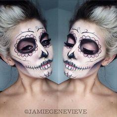 Halloween Sugar Skull makeup. #halloween #makeup