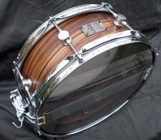 Zebrawood - Single Ply Steambent Shell (Vaughncraft) - Tumbling Boulders Drums