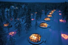 finland glass iglo hotel